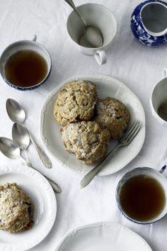 blueberry almond buckwheat scones.