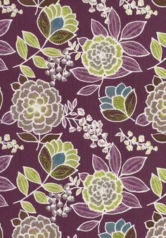 SULU, Plum, F913012, Collection Monterey from Thibaut