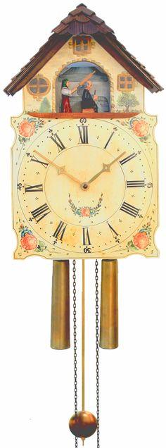 Reloj de cuco con fachada pintada movimiento mecánico de 8 días 40cm de Rombach & Haas