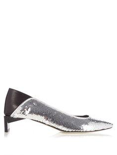 LOEWE Sequin Slipper Shoes. #loewe #shoes #flats