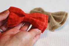 Easy no sew bow ties from Weddingwindow.com  (thinking this might be the answer to Easter-wear for my little men.)