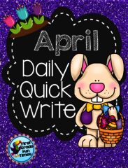 April Quick Write - April Quick Write.  A GIVEAWAY promotion for Quick Writes - April  from First Grade Fun Times on TeachersNotebook.com (ends on 4-3-2015)