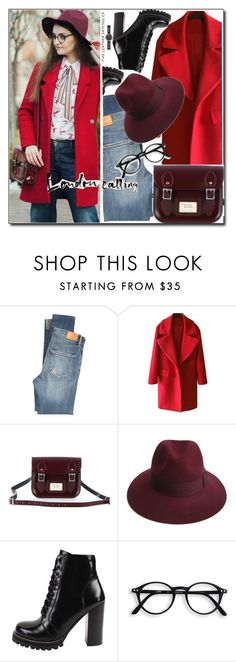 """""""Leathersatchel"""" by leathersatchel ❤ liked on Polyvore featuring Citizens of Humanity, Justine Hats and Jeffrey Campbell"""