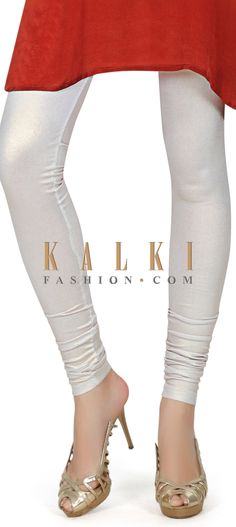 Buy this Featuring shimmer silver legging only on Kalki