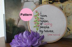 Pattern  Cross Stitch  Backstitch  Jane by LilacLaneAfternoons