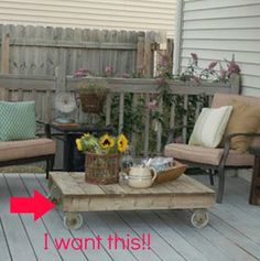 Thrifty Decor Mom: Summer Front Porch...outdoor pallet table