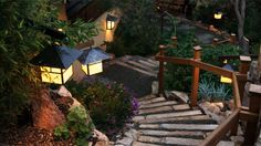 Ten Thousand Waves mountain spa resort in Santa Fe, NM, designed to look like traditional Japanese onsen
