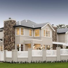 New exterior stone wall stairs Ideas Hamptons Style Homes, The Hamptons, Style At Home, Custom Home Builders, Custom Homes, Classic Fence, Modular Walls, Exterior Design, Wall Exterior