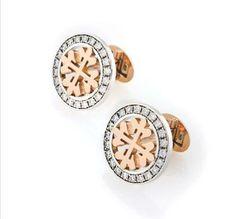 Patek Philippe Calatrava Cufflinks white gold and diamonds