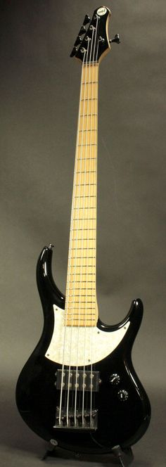 A Japanese MTD 5 string electric bass.  Cool style.