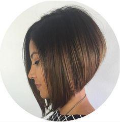 22 Graduado lindo Bob peinados: Corte de pelo corto Diseños // #Corte #corto #diseños #Graduado #lindo #Peinados #pelo
