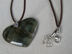 Picasso Jasper Heart pendant by melissa12435 on Etsy, $14.00