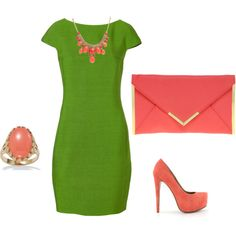 Green and Coral
