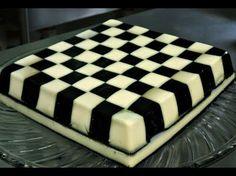 Gelatina tablero de ajedrez de yogurt y uva con jerez.- RecetasdeLuzMa - YouTube