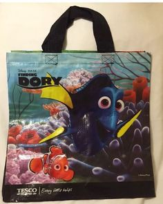 d840a3e242 Tesco Finding Dory Tote Bag Nemo Disney Pixar Fish Eco Gift New