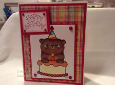 2 Cute Ink Digital Stamps Challenge Blog: Challenge #108 - Birthday Challenge-DT Member Deanette