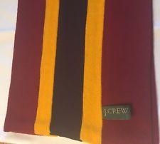 "100% Wool J Crew Scarf Red/yellow/blue EUC 44"""