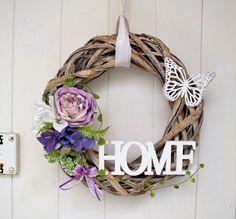 t rkranz t rschmuck willkommen fr hling sommer blume mit vogel in m bel wohnen. Black Bedroom Furniture Sets. Home Design Ideas