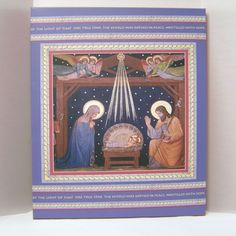 Beautiful Home Decor from the Printery House to Help You Create a New Advent Tradition! This Stretched Canvas Print of the Nativity Scene Would be Great for Your Home or As a Gift. http://www.printeryhouse.org/