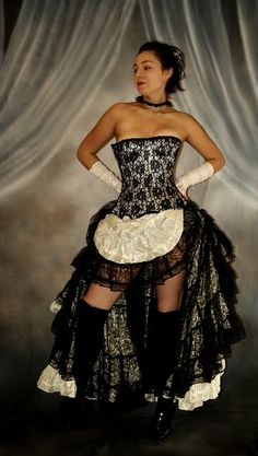 We3 Belly Dance Moulin Rouge ShowGirl Steampunk Costume |
