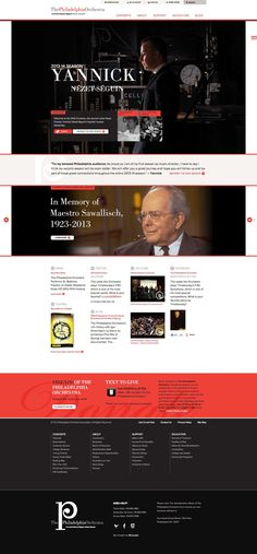 Philadelpia Orchestra website, by Blue Cadet http://bluecadet.com/