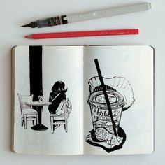 Sketch diary drawing art artist painting linedrawing black sketchoftheday d Artist Journal, Artist Sketchbook, Art And Illustration, Inspiration Artistique, Art Drawings Sketches, Drawing Art, Moleskine, Art Inspo, Art Journals
