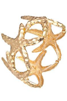 47e1df8a10 Starfish Bracelet, Under The Sea, Visual Diary, Beachwear, Nautical, Jewelry