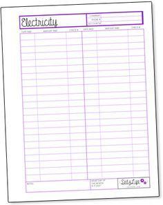 Monthly Bill Reminder Worksheet Printable  Free Worksheet