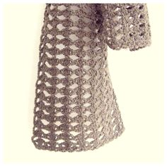 ストール(くさり編みと長編み・模様編み)