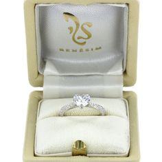 Verlobungsring Gstaad mit Diamant im Herzschliff (0,95 Karat, Farbe E, Reinheit IF)
