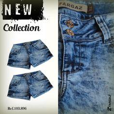 Shorts Jeans Feminino Fargaz