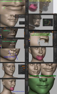 Processing dynamesh into proper flow by fractalife on DeviantArt Zbrush Tutorial, 3d Tutorial, Photo Tutorial, Gesture Drawing Poses, Drawing Poses Male, Zbrush Character, Character Modeling, 3d Character, Sculpting Tutorials