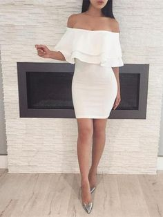 Off-the-shoulder Sheath Homecoming Dresses Formal Dresses - Women Fashion Trends Sexy Dresses, Cute Dresses, Beautiful Dresses, Short Dresses, Fashion Dresses, Cute Outfits, Summer Dresses, Formal Dresses, Beach Dresses