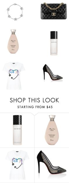 """pls like if u are going to use item"" by alaa88 ❤ liked on Polyvore featuring Gucci, Christian Dior, Markus Lupfer, Christian Louboutin and Chanel"