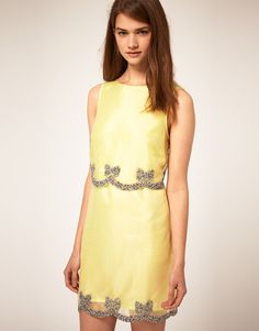 ASOS Shift Dress with Embellished Bow.  asos.  $58.19