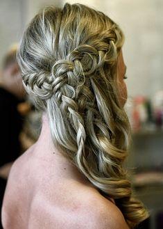 braided wedding hairstyles, bridal hairstyles with plaits - braided wedding hairstyle Romantic Hairstyles, Flower Girl Hairstyles, Braided Hairstyles For Wedding, 2015 Hairstyles, Cool Hairstyles, Bridal Hairstyles, Plait Braid, Plaits, Beach Wedding Hair
