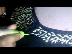Liquid Embroidery can also give a look of Zari Embroidery work on fabric. So, This is the tutorial for How we use Liquid Embroidery which give a look of Zari. Embroidery Motifs, Simple Embroidery, Embroidery Designs, Texture Painting, Fabric Painting, Easy Crafts, Arts And Crafts, Fabric Paint Designs, Creative Decor
