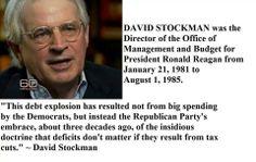 ~ David Stockman