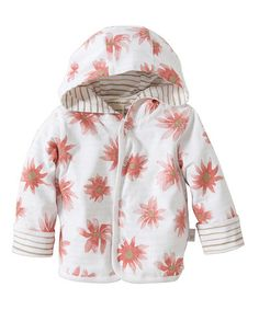 Blossom Floral & Stripe Organic Reversible Jacket - Infant by Burt's Bees Baby #zulily #zulilyfinds