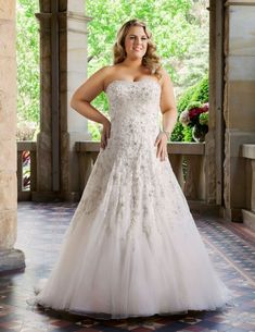 Stylish Wedding Dresses for Curvy Brides big women plus size