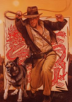 Drew Struzan, Indy novel | i've read this one--the dog is awesome
