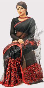 send gifts to bangladesh, send gift to bangladesh, banlgadeshi gifts, bangladeshi Black Moslin Saree