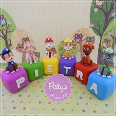 Cubos decorados Patrulha Canina - Festa Infantil - Paty's Biscuit