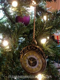 Steam Ingenious: Steampunk Christmas Ornaments - Pocket Watch Ornament from Joann's