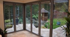 Floating Corner Post | Case Studies | South Coast Bi-Folds Garden Room Extensions, French Windows, Door Sets, New Forest, Folding Doors, Open Plan Living, Conservatory, Home Improvement Projects, Case Study
