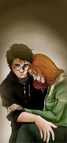 Harry Potter and Ginny Weasley…graphic novel style…despairing. - Space and Astronomy Harry James Potter, Harry Potter Fan Art, Harry Et Ginny, Harry Potter Couples, Fans D'harry Potter, Harry Potter Drawings, Harry Potter Ships, Harry Potter Books, Harry Potter Universal