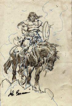 Cap'n's Comics: Coupla Conans On a Horse by John Buscema