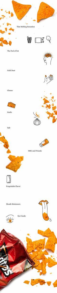 "The Nacho Dorito - Graphic - NYTimes.com ""...the psychobiology of what makes Nacho Cheese Doritos so alluring."""