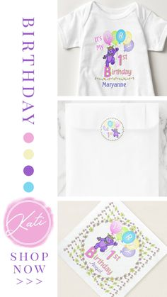 Designer Spotlight : Kati from Anuradesignstudio - First Birthday Princess Bears Collection Purple Princess Party, Princess Birthday, Pastel Balloons, Rainbow Balloons, Girl First Birthday, 1st Birthday Parties, Baby Party, Color Swatches, Purple Yellow
