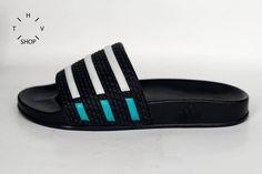 1991 Adidas Adilette Sandals / Unisex Adidas Adilette by HTVshop